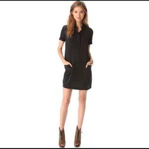 Equipment Femme | Black Silk Dress Sz L